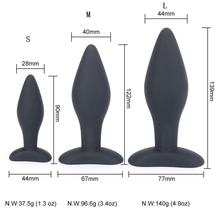 Buy 90/122/139CM Sexy Black Silicone Anal Plug Massage Adult Sex Toys Women Man Gay Anal Plug Set Butt Plugs Sex Products