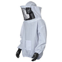 1PC New Practical White Protective Beekeeping Jacket Veil Dress With Hat Equip Suit Smock