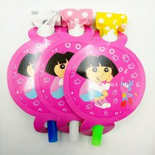 6pcs/lot Dora Party Supplies Kids Party Noise Maker Blowout Birthday Celebration dora party anniversaire dora the explorer