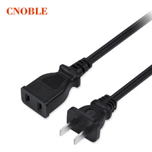 Promotion sale 50cm 10A AC power supply 2-Prong male/female extension Cord cable US plug Black 5 PCS/lot