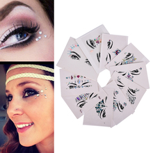 Makeup Decoration Cosmetic Jewel Eyes Makeup Crystal Eyes Sticker Tattoo Eyeliner Diamond Glitter Makeup Sticker Bridal Party