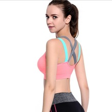 Fitness Running Quick Dry Yoga Bra Womens Push Up Sports Padded Tank Top Athletic Vest Shockproof Cross Strap Back Women Sports(China)