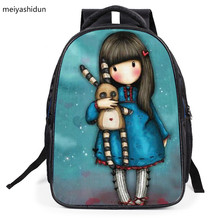 New Children's Cartoon Schoolbag Students Backpacks Comics Casual Girls Cute Princess Beautiful Lady Backpacks