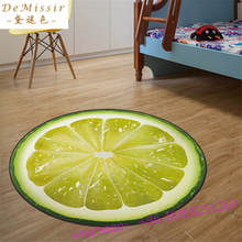 3D earth Round Mat 80/100/120/160CM alfombras dormitorio Carpet Living Room Deurmat Dier rugs Swivel chair Mats tapis chambre(China)