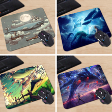 Babaite Dream World Flying Whale 2016 Free Shipping 180X220X2MM 250X290X2MM Square Mouse Pad Not Overlock Edge Mat(China)