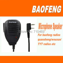 Freeshipping+BAOFENG handy speaker microphone mic for radio baofeng uv-3r plus/bf f8/888s/wouxun kg-uvd1p ham radio transceiver(China)