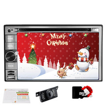 X-mas Free camera Android 6.2 Inch 2 Din Car DVD with GPS Nav Bluetooth in-dash Audio Stereo Capacitive Muti-touch Screen+ Ipod