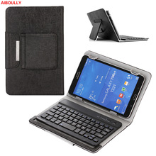 AIBOULLY Universal Tablet Laptop Removable Wireless Bluetooth Keyboard Folio PU Leather Stand Case Cover for 8 inch HP Pro 408(China)