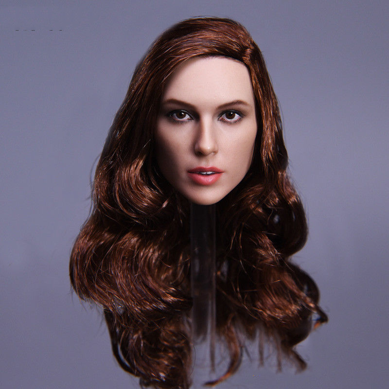 1/6 The Wonder Women Gal Gadot Head Sculpt with Long Curly   Hair for 12 Inches Figures   Bodies<br>