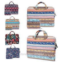 "Canvas 11""13""13.3""15""15.6"" Laptop Tote Pouch PC Handle Carry Bag For Macbook HP Dell IBM"