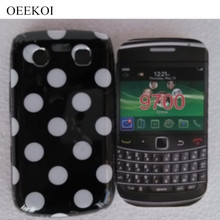 OEEKOI Polka Dots Style Back Skin Cover Case for Blackberry BB 9700 Soft Phone Case Free(China)