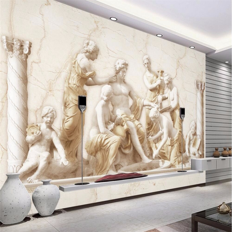 Custom photo wall paper Roman relief European classical art background large mural 3d wall wallpaper painting for 3D living <br><br>Aliexpress