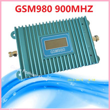 LCD Display GSM 900Mhz Mobile Phone GSM980 70db Signal Booster , GSM Signal Repeater , Cell Phone Amplifier 2017 WHOLESALE(China)