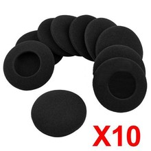 Earphone Accessories 10Pcs 60mm Black Foam Ear Pads Earphone Pad Sponge Earpads Headphone Cover for Earphone