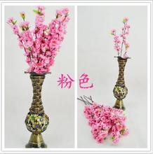 Vases Artificial Flowers Romantic Artificial Branches Of Peach Cherry Blossom Silk Flowers Home Wedding Decoration Flower