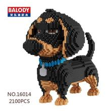 Balody Secret Life of Pets Max Dog Figure Black Mini Diamond Building Block Toy(China)