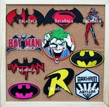 Batman joker Harley Quinn  Movie TV logo cloth badge iron on patches biker vest applique coat Embroidered cinephile wholesale