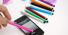 Capacitive screen Metal stylus touch pen with clip for iphone 4 4S iphone 5 /iPad/mini iPad/iPod touch 2000pcs/lot(China)