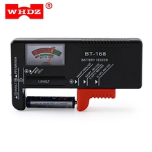 WHDZ BT168 Portable Digital Battery Tester Black Digital Battery Power Measuring Instrument Function Universal Battery Tester