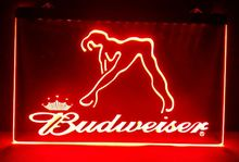 b02 Budweiser Exotic Dancer Stripper 2 size beer Bar pub club 3d signs LED Neon Light Sign home decor shop crafts(China)
