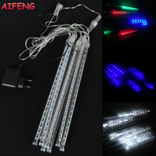 AIFENG Waterproof Light String Christmas Lights 30cm 8 Tubes Meteor Shower Falling Star Rain Drop Icicle Snow Fall Light Strings
