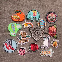 new arrive 16 types of style select fashion style hot melt adhesive applique embroi dery patches stripes DIY clothing accessory