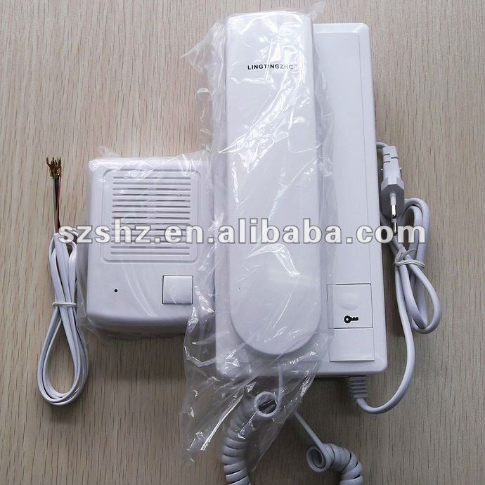 High quality and unique design Audio intercom system Two-way intercom door phone with lock function<br>