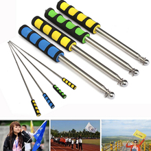 Stainless Telescopic Flag Pole 1PCS 2M Portable Extendable Telescopic Windsock Flag Pole Ferula Pointer Poles for Flags Windsock