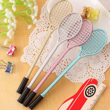 20pcs/lot Cute Badminton Racket Shape Gel Pen Office Supplies Stationery Roller Ball Pen Stationery School Supplies Free Shippin