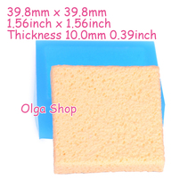 GYL406 39.8mm Square Cake Bottom Base Silicone Mold - Cake Tart, Baking Tools, Fondant Craft Polymer Clay, Candle, Resin Molds