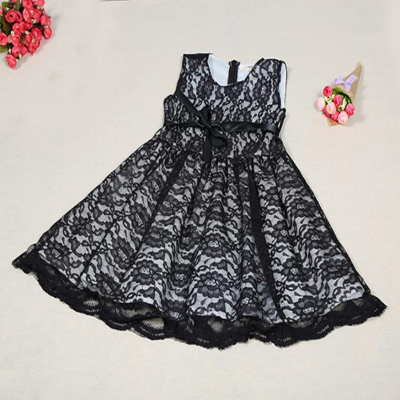 New Posh Black Girls dress ,Princess baby girls dress ,western girls outfit ,summer lace girls dress with ribbon<br><br>Aliexpress