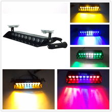castaleca 12V Car Truck 9 LED Strobe Warning Police light Flashing Firemen Ambulance Emergency Flasher 16 Flashing modes