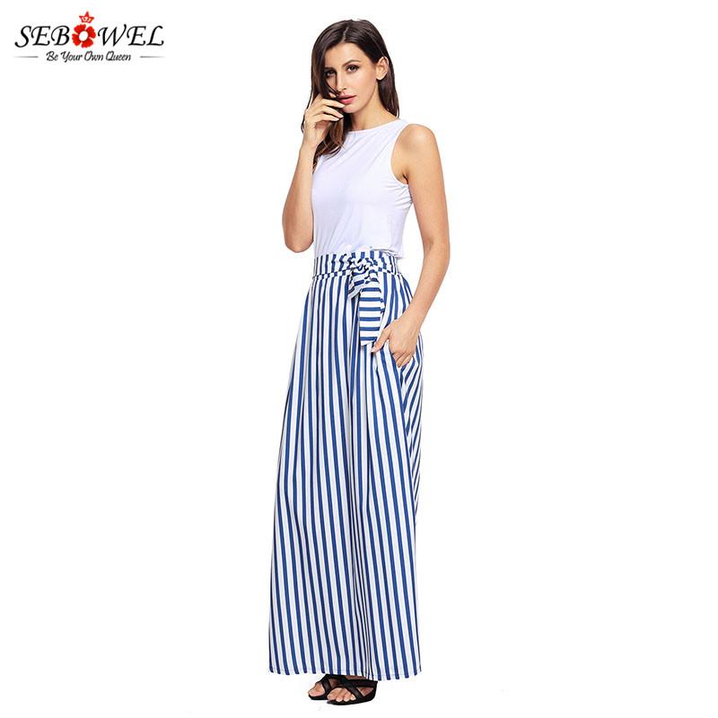 Light-Blue-Striped-Maxi-Skirt-LC65037-4-3