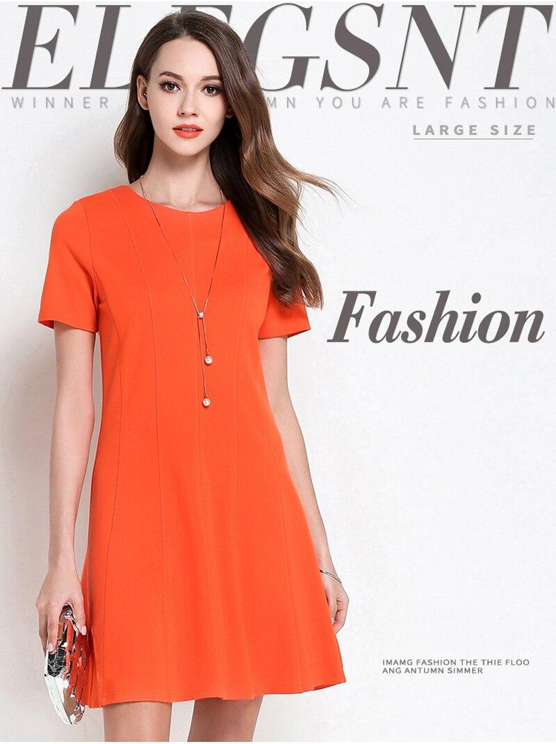 Detail Feedback Questions about Dress Solid Orange Dark Blue Round ... 8d52cb52451d