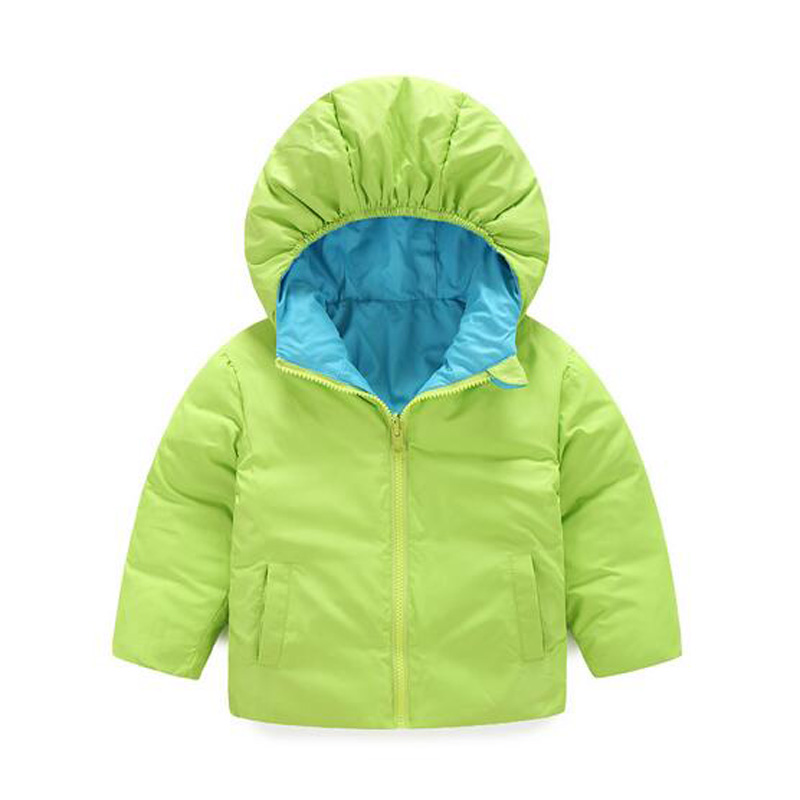 New Winter Children Cartoon Duck Down Hooded Jacket For Girl Boys Children Outerwear Baby Girls Winter Coat Double-Sided JacketОдежда и ак�е��уары<br><br><br>Aliexpress