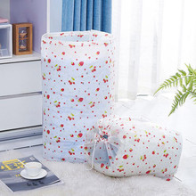 4 Colors Foldable Storage Drawstring Clothes Blanket Quilt Closet Sweater Organizer Bag Home Organization F112(China)