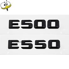 Auto Exterior Accessories Black Emblem Badge Car Rear Sticker Decals Number Car Styling Mercedes E Class Benz E500 E550