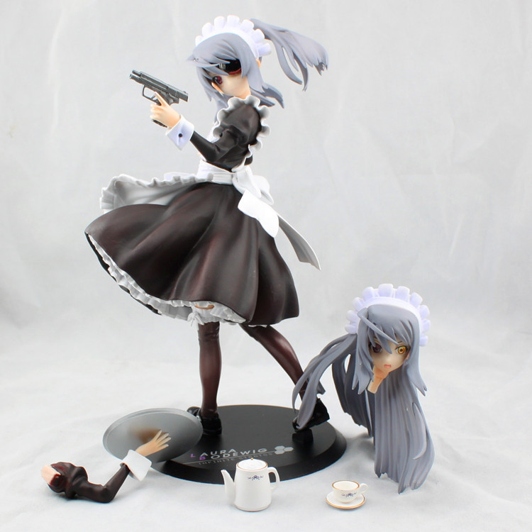 21cm Japanese Anime Infinite Stratos Laura Bodewig waiter styling PVC Action Figure Collection Model Toy<br><br>Aliexpress