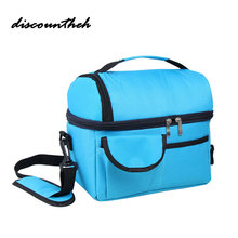 Insulated Food Storage Bags Lunch Cooler Picnic Containers School Dinner Ice Travel Shoulder Holiday Box(China)