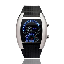 Innovative New Fashion Cool watch Kid Flash LED Digital Watch Air Race Sports Dial watch children Electronic Binary Casual Watch
