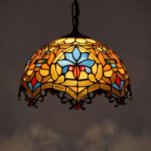 European Style Retro Tiffany Stained Glass Western Restaurant Pendant lamp hanging Lights Bar Beauty Shop Lobby Led Home