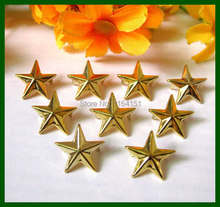 Wholesale 300Pcs 15mm Gold Plated Star Studs Rivet Spike Nickel Punk Bag Belt Leather craft Bracelets shoes Clothes lywj-002(China)