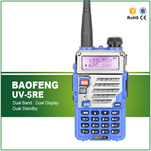 Blue Original Baofeng UV-5RE Two Way Radio Dual Band Transceiver for Hotel, Police, Commercial, Ham Use