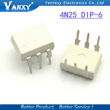 10PCS 4N25 DIP6 DIP photoelectric coupler new and  original free shipping