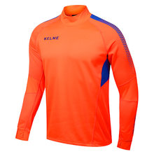 Kelme K089 Men Long Sleeve Thumb Buckle Training Light Board Team Sportswear Football Jersey Orange(China)