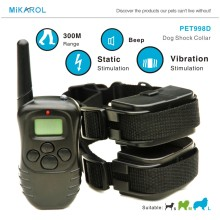 Remote Pet Training Collar with LCD Electonic Dog Collars for Small Dogs, 4 Modes Dog Shock Collar Up To 300 Range