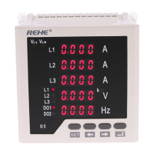 Multi-purpose 3 Phase AC Ammeter Voltmeter cymometer Current Voltage Ratio Programmable Frequency counter Current/Voltage Meter