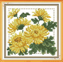 Joy sunday floral style Twelve months flower November design chart free printable cross stitch patterns for diy craft gifts
