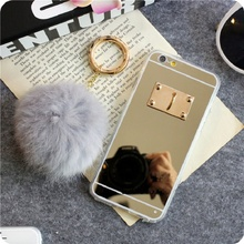 Ayeena Gold Mirror Phone Cases For Xiaomi Redmi Note 4 Ring Soft Furry Real Rabbit Hairs Ball TPU back cases Redmi Note 4 Caja