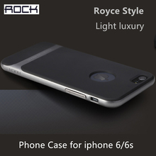 ROCK Original Royce Phone case For iPhone 6 6S Hard PC +Soft TPU ultra-thin Luxury Back Cover for iPhone 6S Case phone Shell